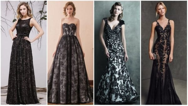Black Lace Wedding Dresses