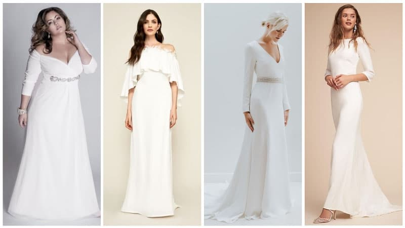 Casual Wedding Dresses for Winter