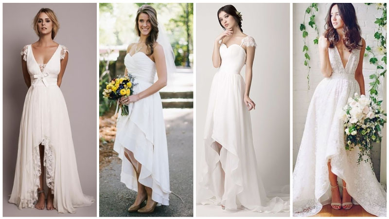 High Low Casual Wedding Dresses