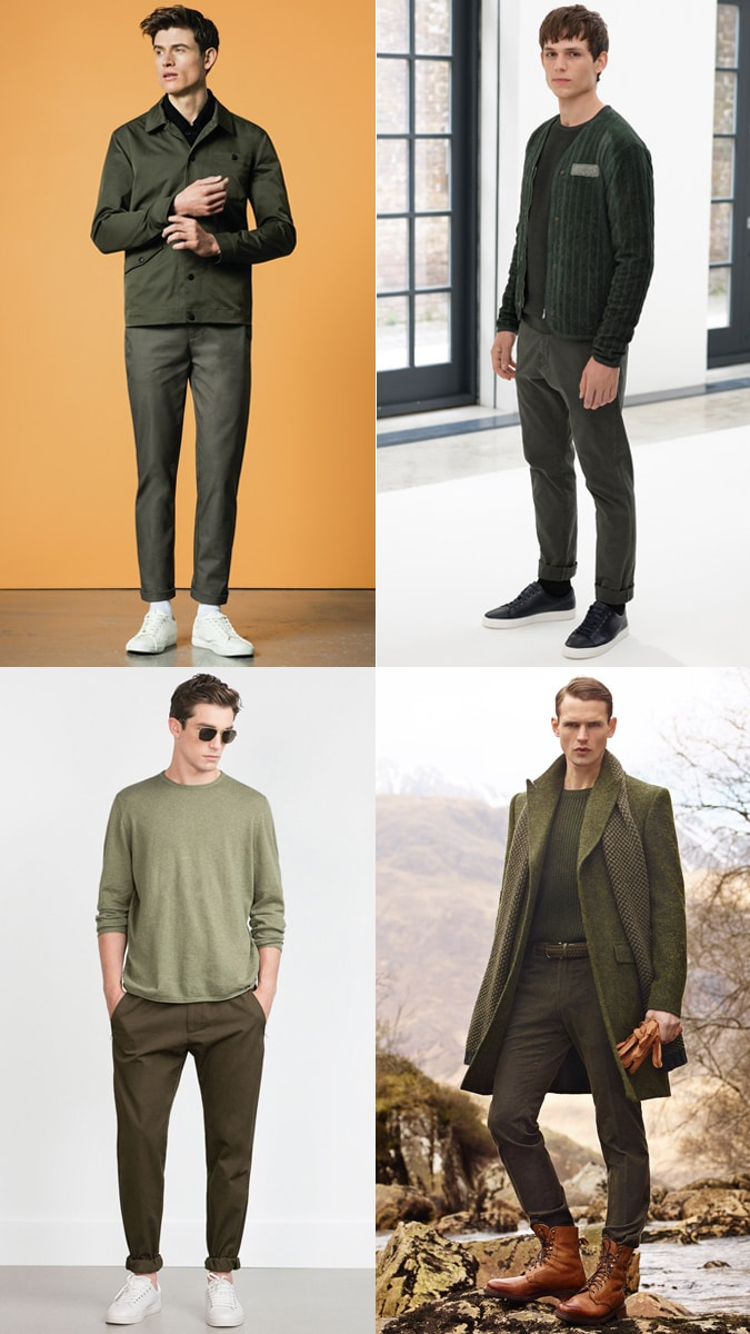 Tonal Dressing Colours green