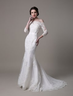 Vintage-Lace-Mermaid-Wedding-Dress-With-Off-the-Shoulder-Neckline-And-Court-Train-548419-2784519