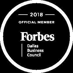 Forbes Dallas Business Council Logo White