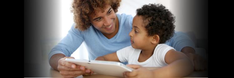 preschooler dad tablet