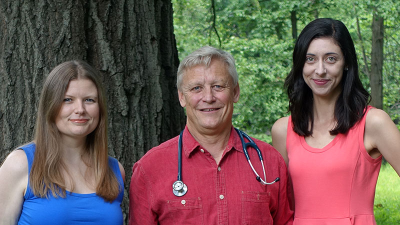 Group image of Michael Rich, Kristelle Lavallee, and Jill R. Kavanaugh