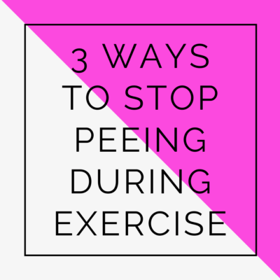 peeing during exercise