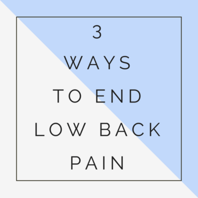 end back pain