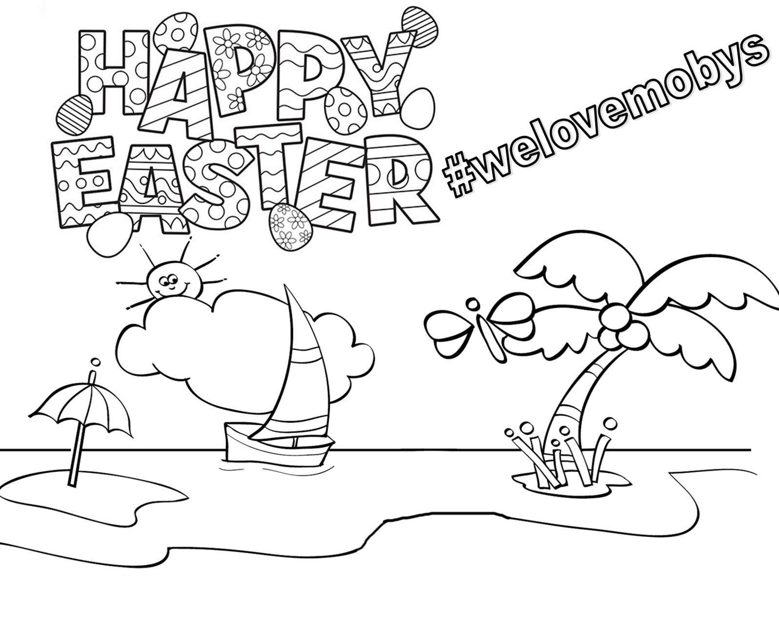 Mobys Easter Colouring