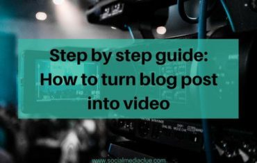 Turn blog post into video