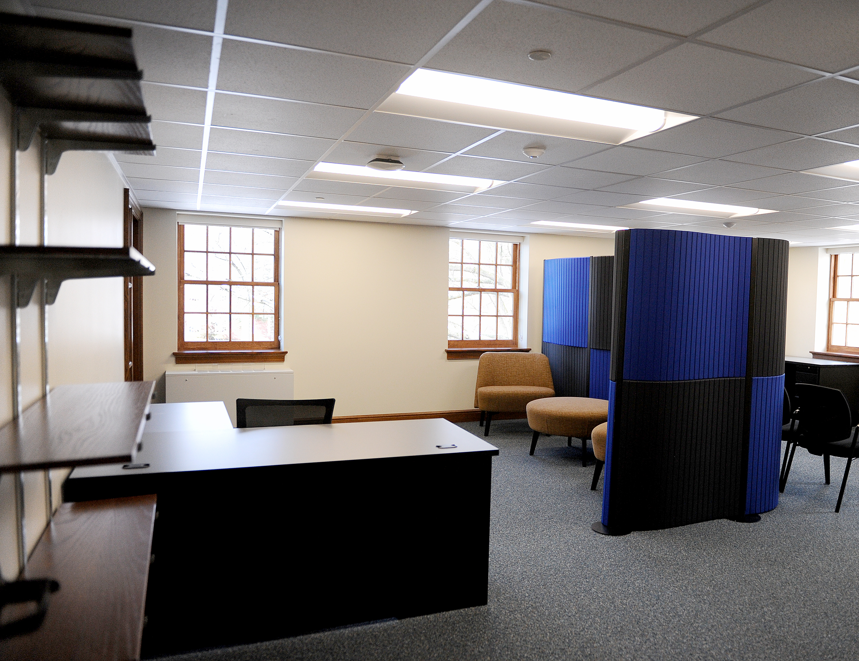 One of the new offices at Hildreth-Mirza Hall at Bucknell University.