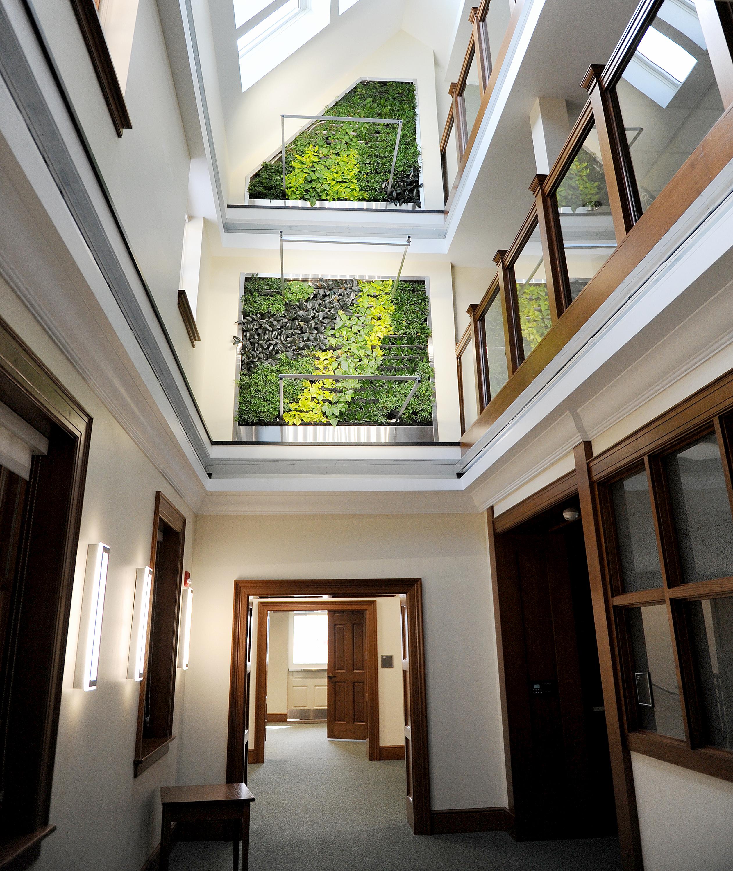 The new atrium at Hildreth-Mirza Hall at Bucknell University.