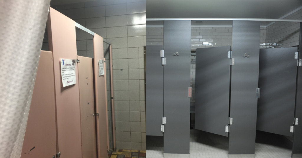 Zartman Construction renovated the changing rooms at the GSV YMCA.