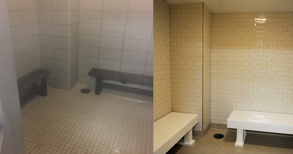 Zartman Construction renovated the steam rooms at the GSV YMCA.