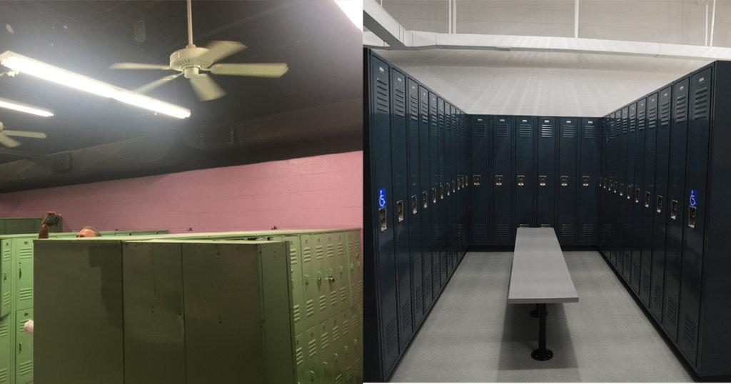Zartman Construction renovated the women's locker rooms at the GSV YMCA.