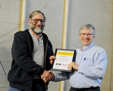 John Kreamer was honored as the safest supervisor for 2017.