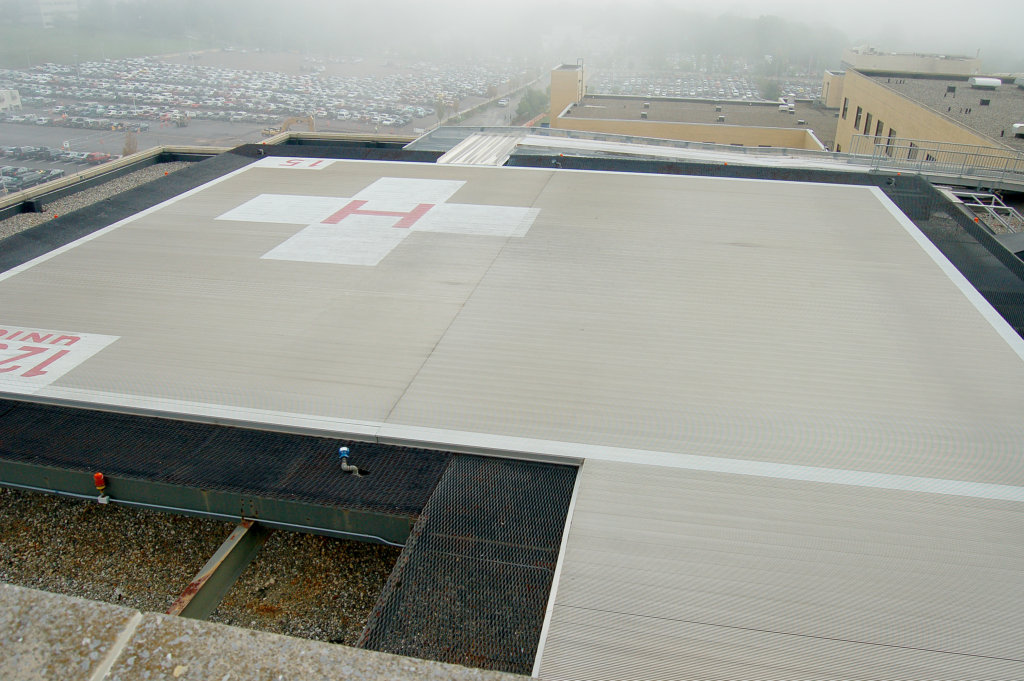 Zartman Construction updated the helipad at Geisinger Medical Center.