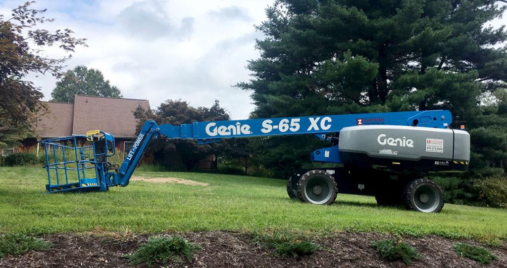 Genie S-65 XC telescopic boom lift rental