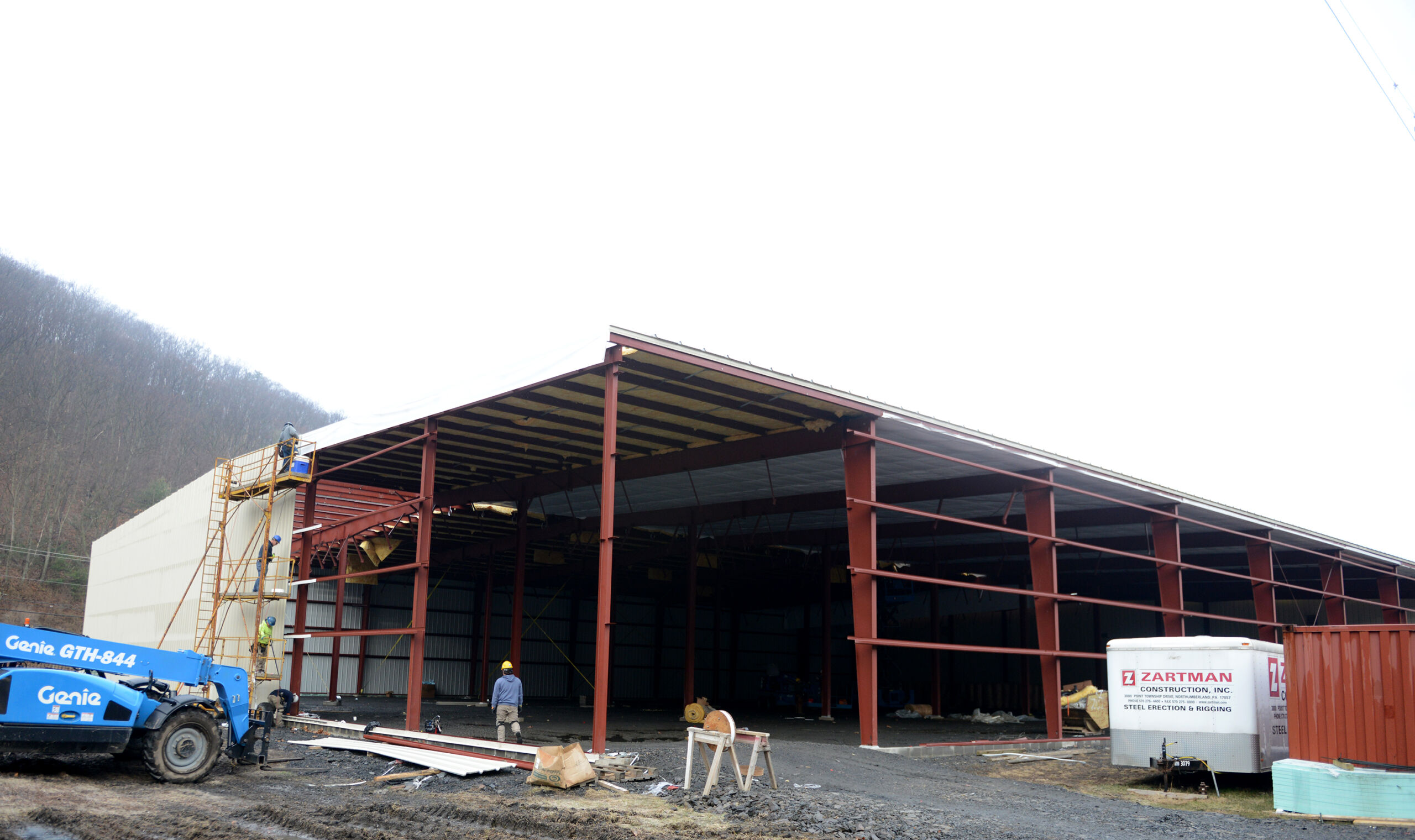 Exterior construction about 75 percent complete at Durdach Brothers.