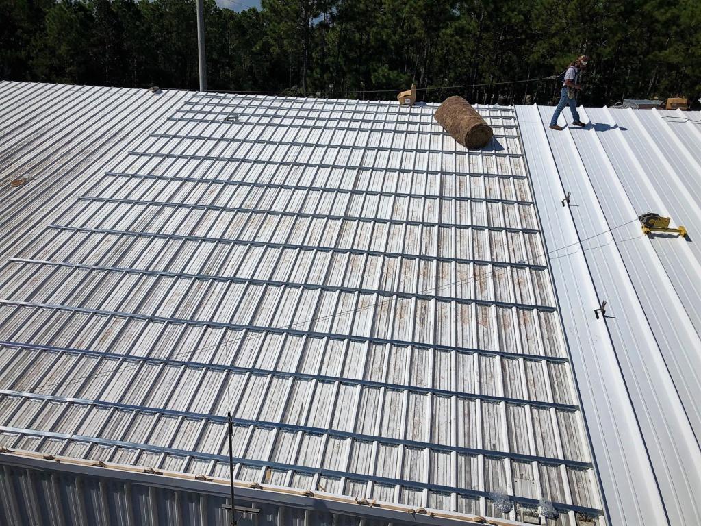 Roof Hugger metal roof retrofit for new metal roof