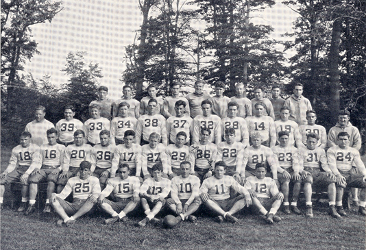 Red Smith and the 1930 Seton Hall Football team