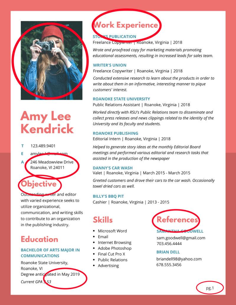 A Bad Resume