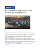 09-21-2017 News12 Brooklyn_NYC Rapper A Boogie Wit Da Hoodie hosts school supply giveaway