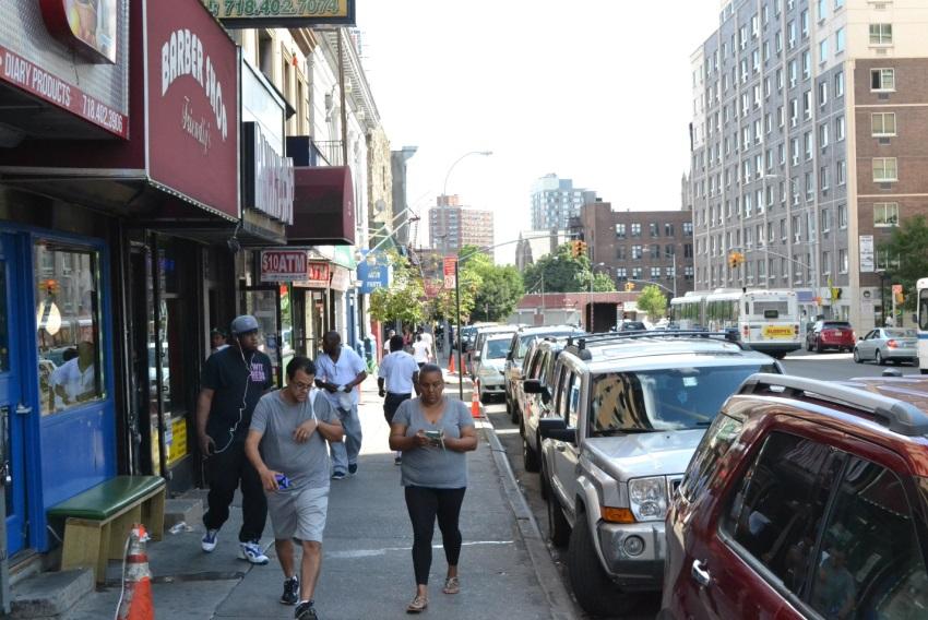 Third avenue in Melrose, Bronx,.