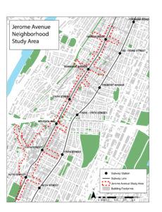 Jerome Ave Study Area map