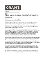 11-09-2017 Crains_New ways to save the Citys shopping districts