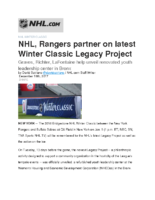 12-19-2017 NHL.com_NHL Rangers partner on latest Winter Classic Legacy Project