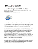 05-10-2019 Daily News_A health-care program NYC must save