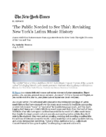 08-09-2019 NY Times_Revisiting New Yorks Latinx Music History