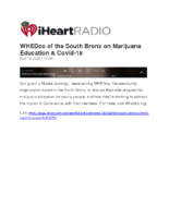 04-19-2020_iHeartRadio_WHEDco of the South Bronx on Marijuana Education