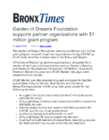 05-11-2020_BronxTimes_Garden_of_Dreams_Foundation_supports_partner_organizations_with_$1million_grant_program