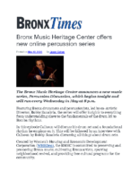 05-12-2020_BronxTimes_Bronx_Music_Heritage_Center_Offers_New_Online_Percussion_Series