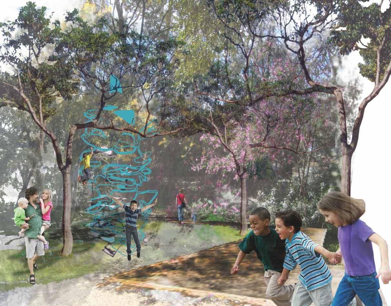 Student Design project Debbie Pearce child exploring natural surrounds