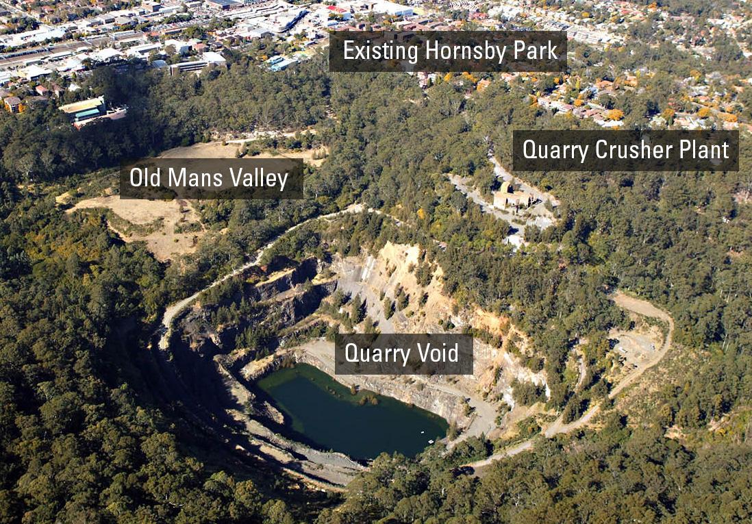 Hornsby Park development site map