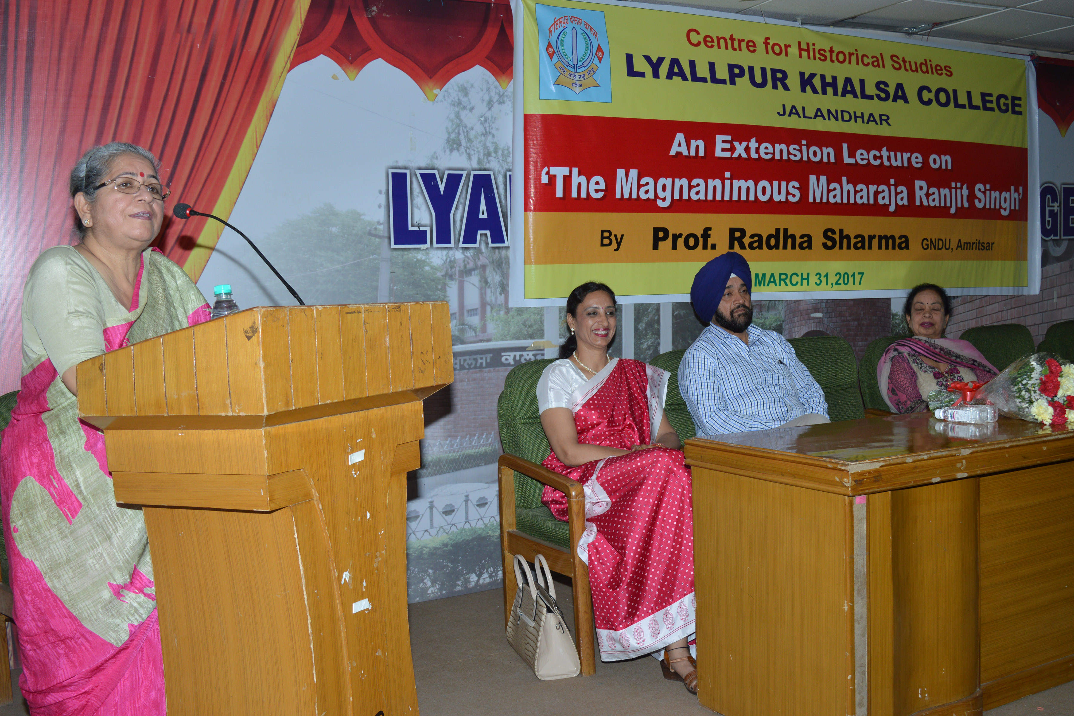 """LKC organize extension lecture on """" The Magnanimous Maharaja Ranjit Singh"""""""