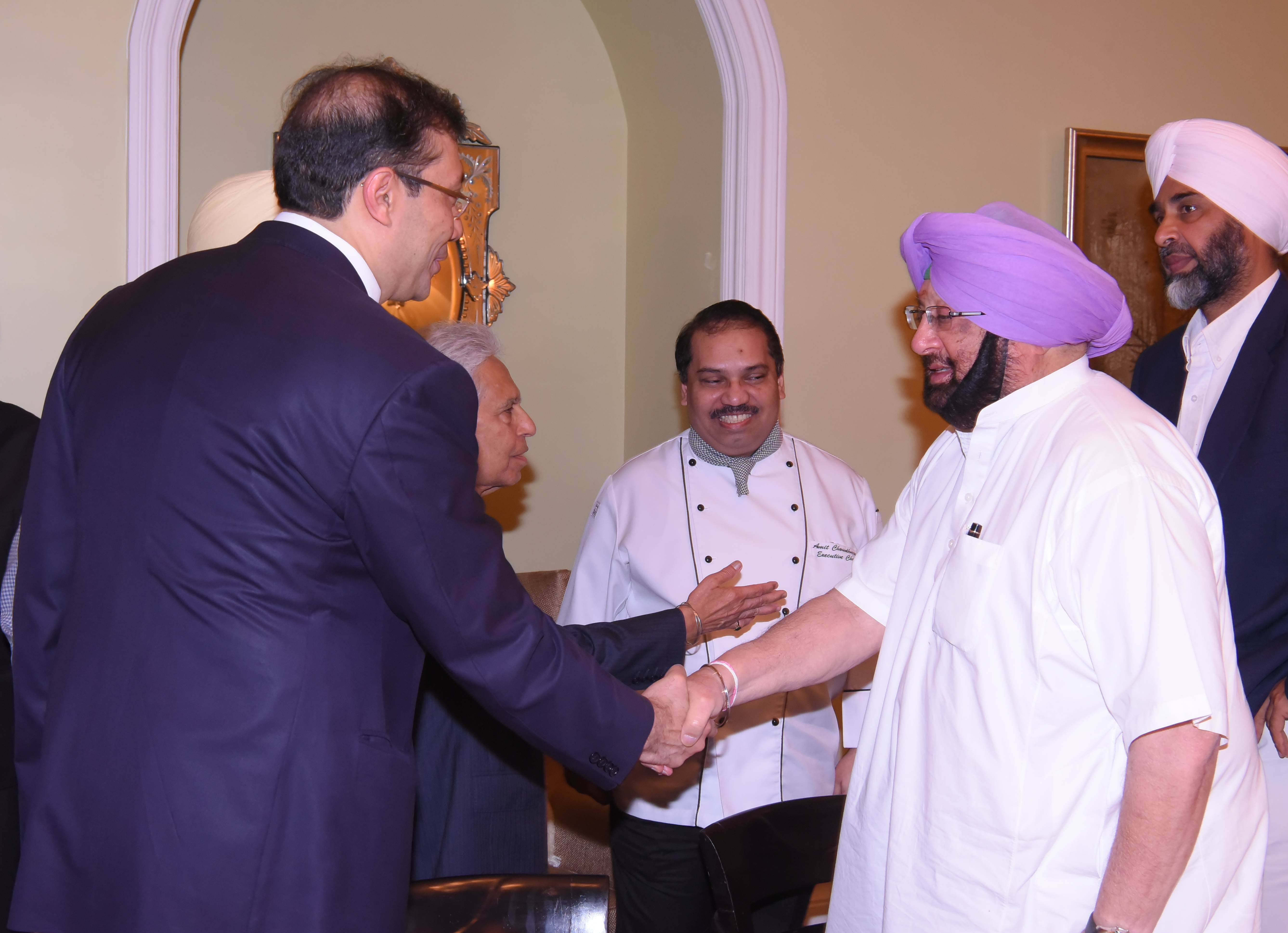 TATA SONS, GODREJ READY TO EXPLORE MORE VENTURES IN PUNJAB AS CM WOOS INDUSTRY IN MUMBAI ICICI BANK AGREES TO CONSIDER CAPT AMARINDER'S REQUEST TO SHIFT BACKEND OPERATIONS TO MOHALI