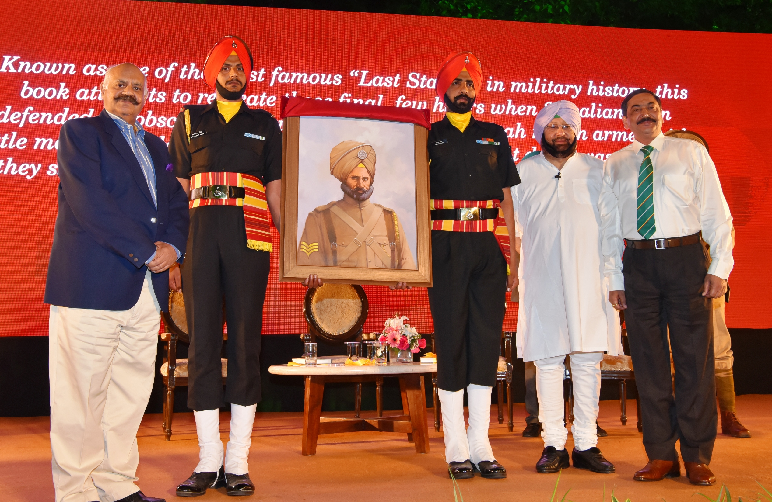 Captain Amarinder unveils his much-awaited Saragarhi Battle book to a distinguished audience