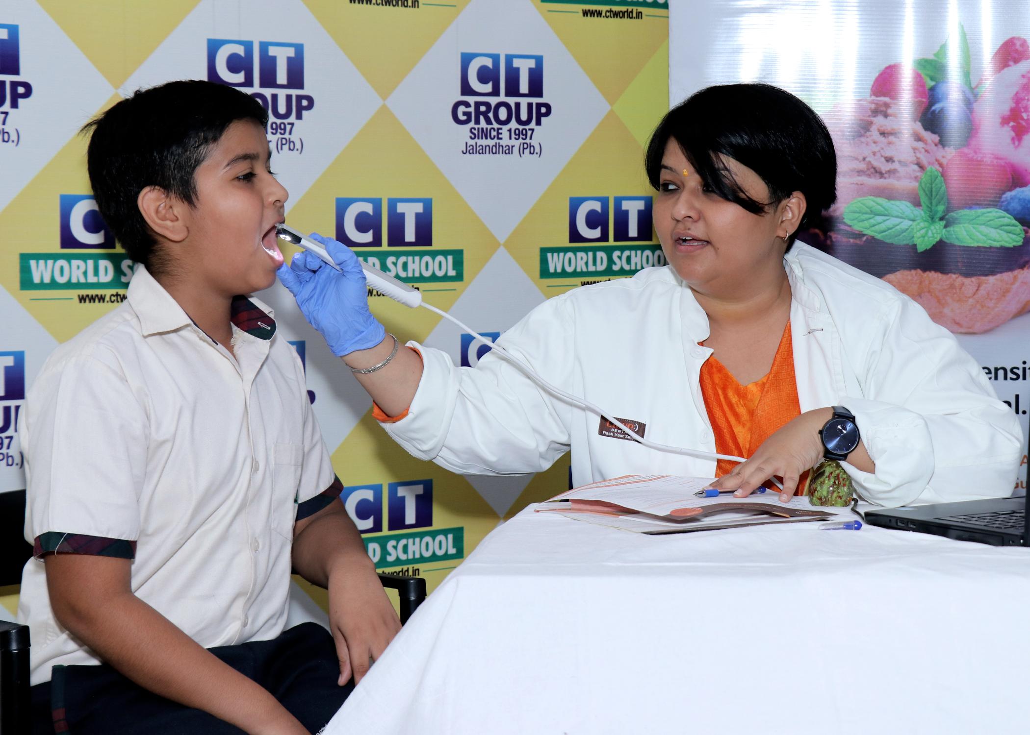 CT Public School & CT World School organises Health check-up camps