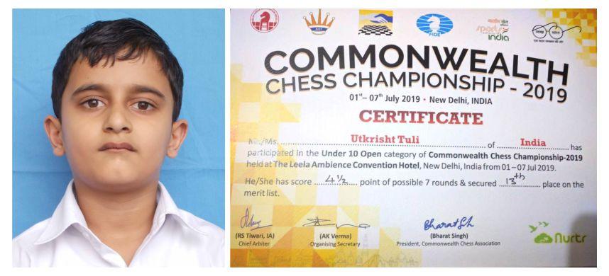 ExuberantPerformance byUtkrishtTuli of Innocent Hearts School in Common Wealth Chess Championship.