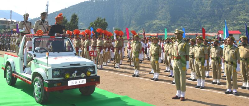 Independence Day celebrated at Doda with national fervor, gaiety