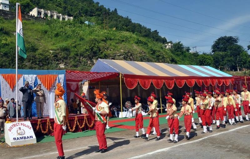 Ramban celebrates 73rd Independence Day