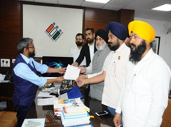 Deploy paramilitary forces in Punjab's four by Elections, askes SAD to CEC