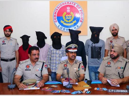 Ludhiana police claimed to have busted a gang of ATM fraudsters, with the arrest of five of its members
