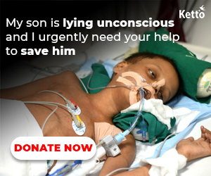 My Son is lying unconscious and I urgently need your help to save hin,Kitto