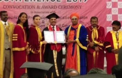 International Peace University Conferred Honorary D. Litt to Prof R K Uppal