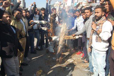 अभावि परिषद ने हैदराबाद में पशु चिकित्सक के साथ हुई बर्बरता के विरोध में निकाली आक्रोश मार्च