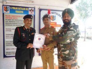 13 Punjab Battalion NCC honours Cadet Karnveer honoured in shooting