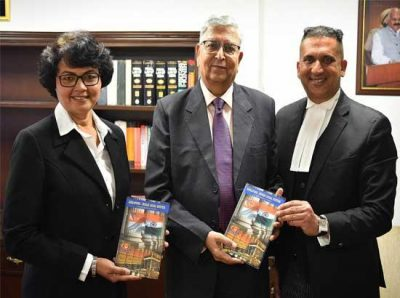 """Justice (Retd.) Vinod K. Sharma acknowledges book titled """"Singapore-Indian Legal System-A Comparative Study"""""""